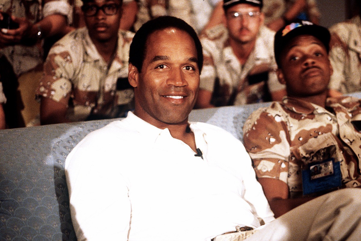 OJ Simpson pictured at a US Army event in 1990