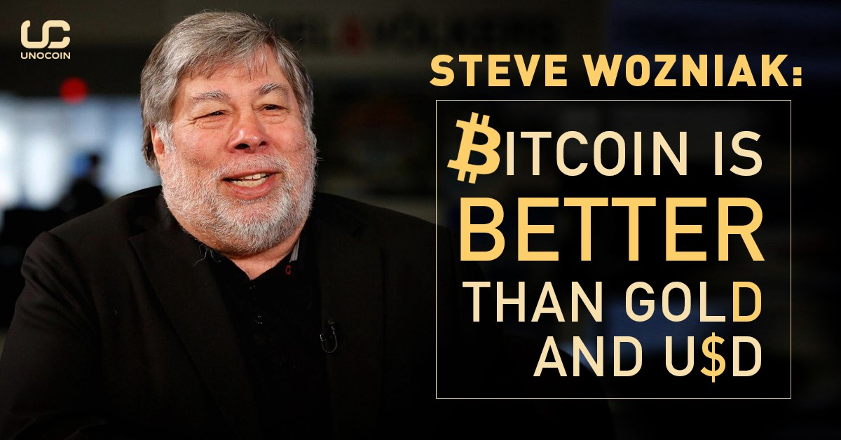 Apple co-founder Steve Wozniak hopes bitcoin will become a single global currency