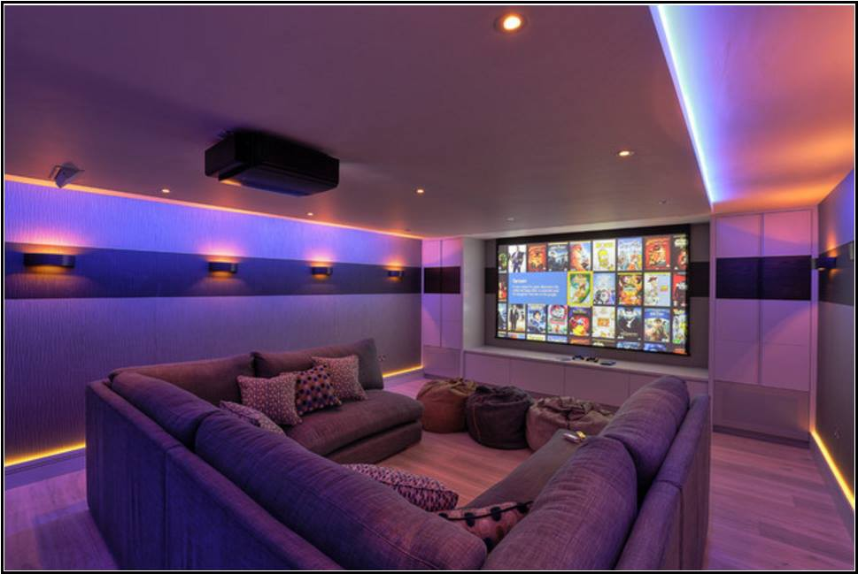 Family Cinema Room A Contemporary Home Theater Design As Per Size Which May Include Theatre With Setting The Lighting Climate Control