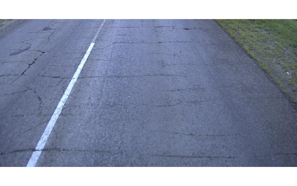 Quality inspection: finding cracks on a road