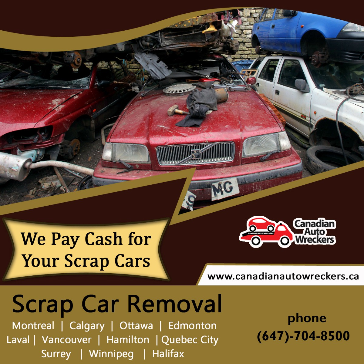 The Scrap Car Removal Montreal — Call Us (647–704–8500)