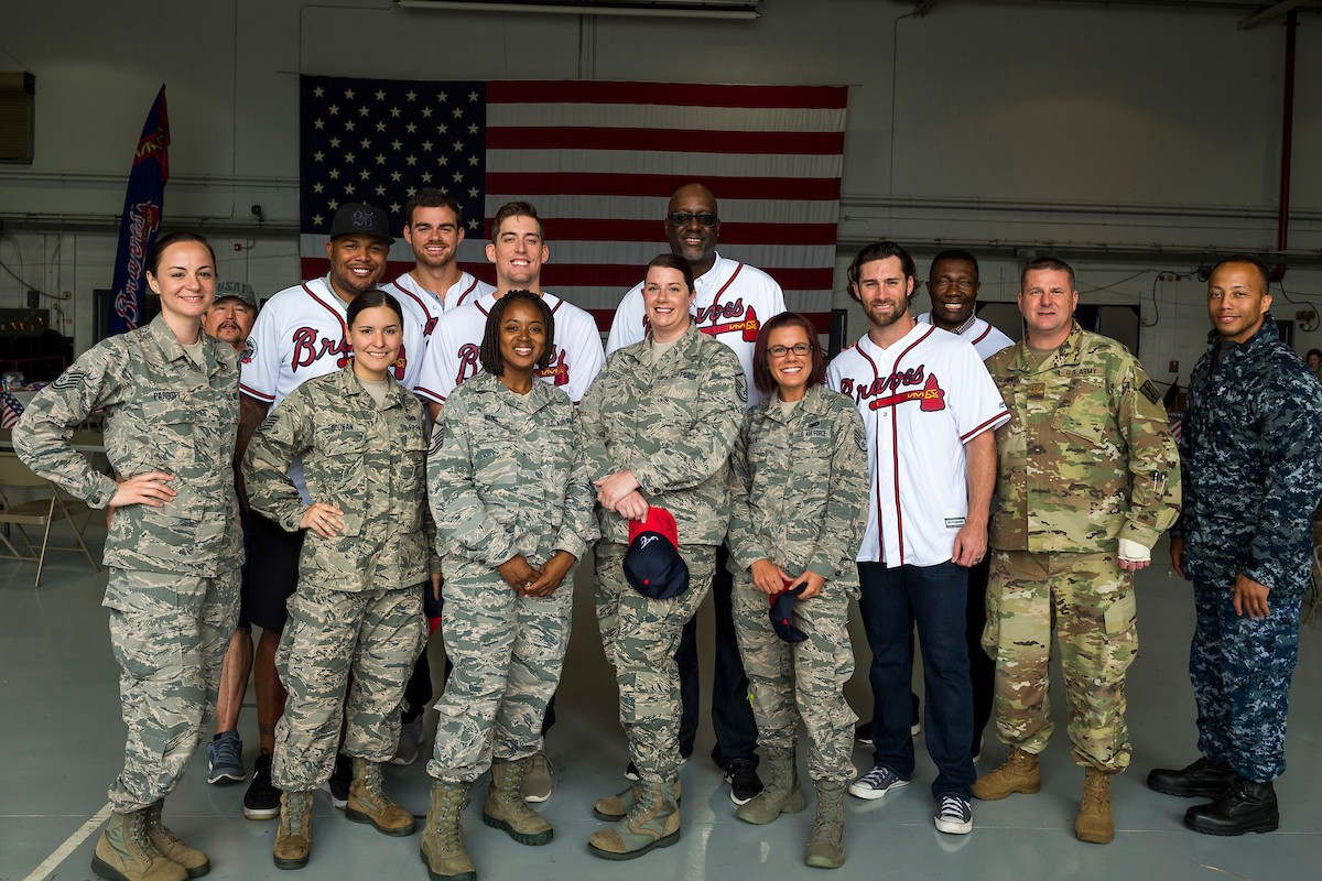 Braves Visit Dobbins Air Force Base – On Chop Of The World – Medium