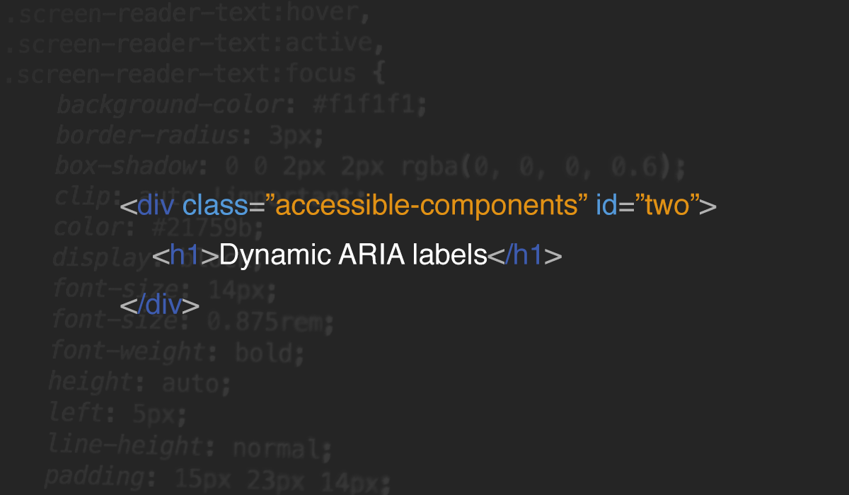 Accessible components: #2 dynamic ARIA labels