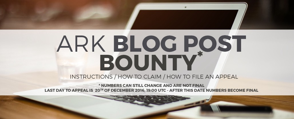 Ark Blog Post Bounty Is Complete Further Instructions