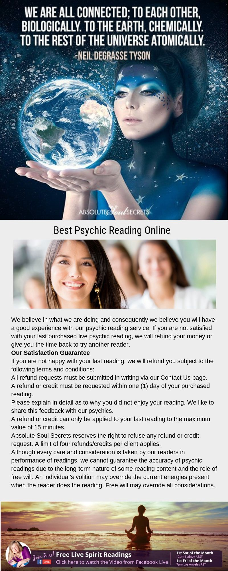 Best Psychic Reading Online — www absolutesoulsecrets com
