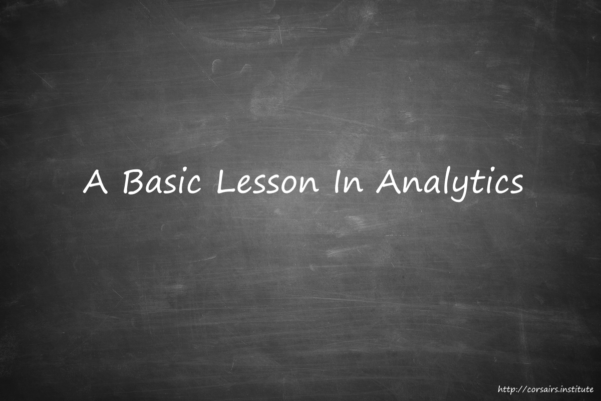A Basic Lesson In Analytics – Charting Ahead
