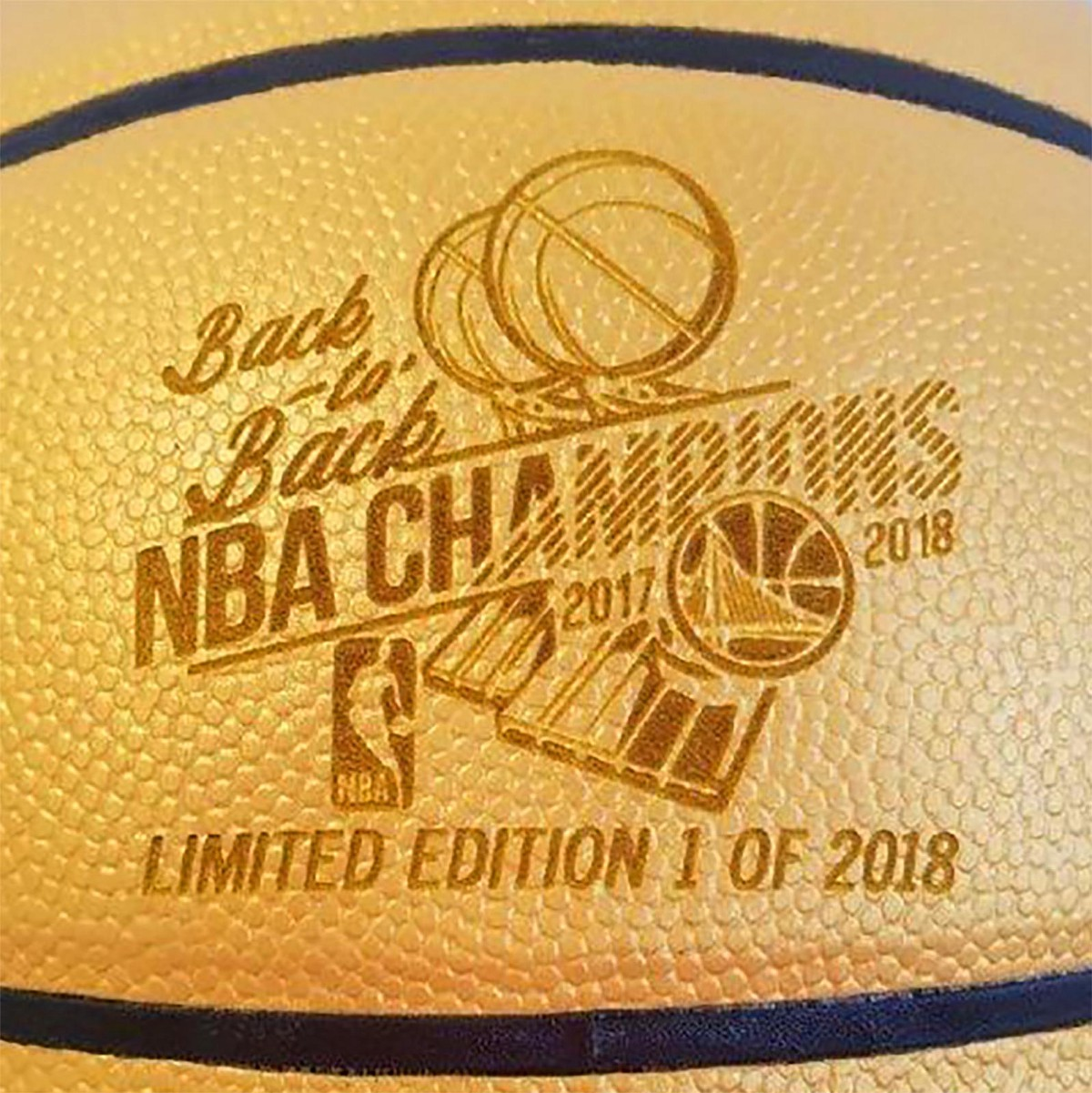 00ff4429b73 Spalding Drops Limited Edition Golden State Warriors 2018 NBA Championship  Balls