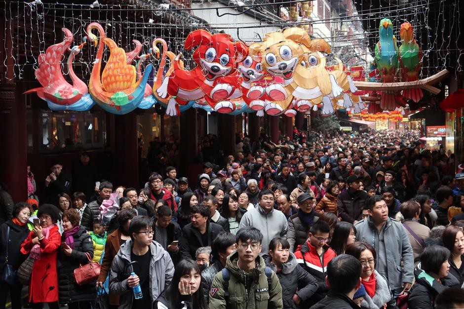 Shanghai welcomed 4.4 million tourists over the Spring Festival holiday