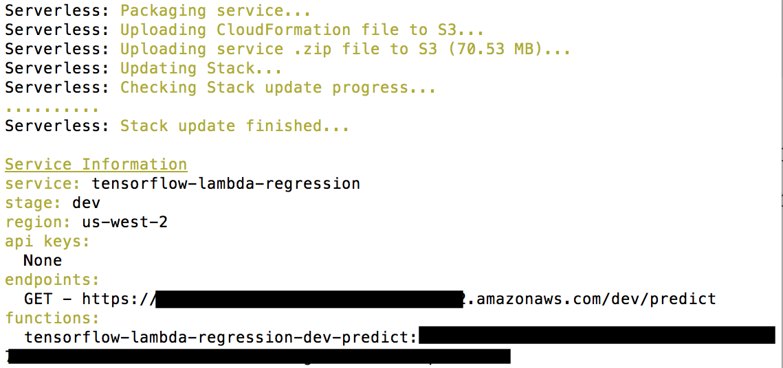 Serving TensorFlow Predictions with Python and AWS Lambda