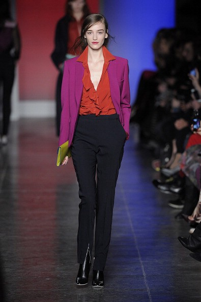 96660013e8 So-called androgynous looks from Paul Smith s Fall Autumn Winter 2013–2014  collection. Photo by Catwalking Getty