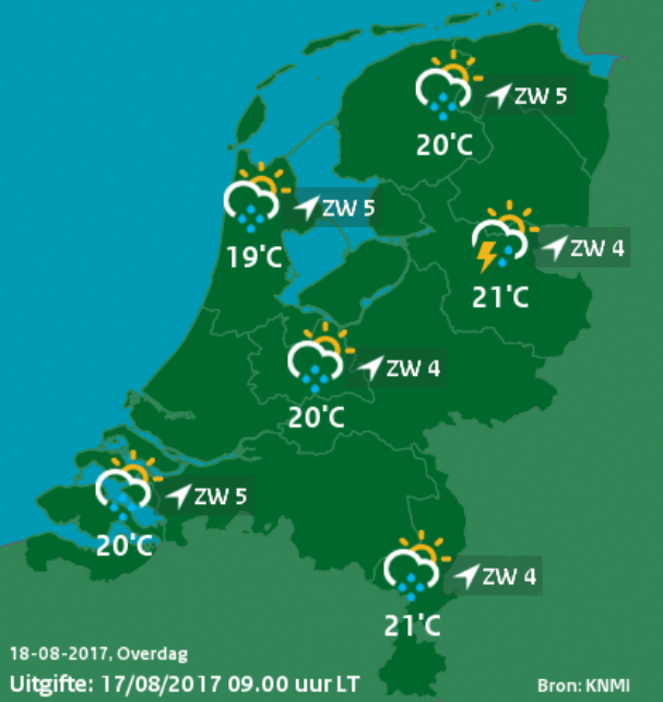 Traditional Weather Map.Predicting Temperatures In Your Street Netherlands Escience Center