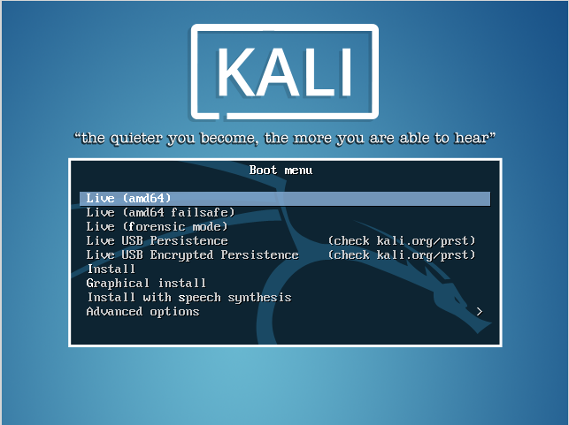 how do i install kali linux on my laptop