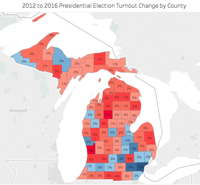 Map Of Red And Blue States 2016 Presidential Election.The Impact Of Voter Turnout 2016 Presidential Election Results By