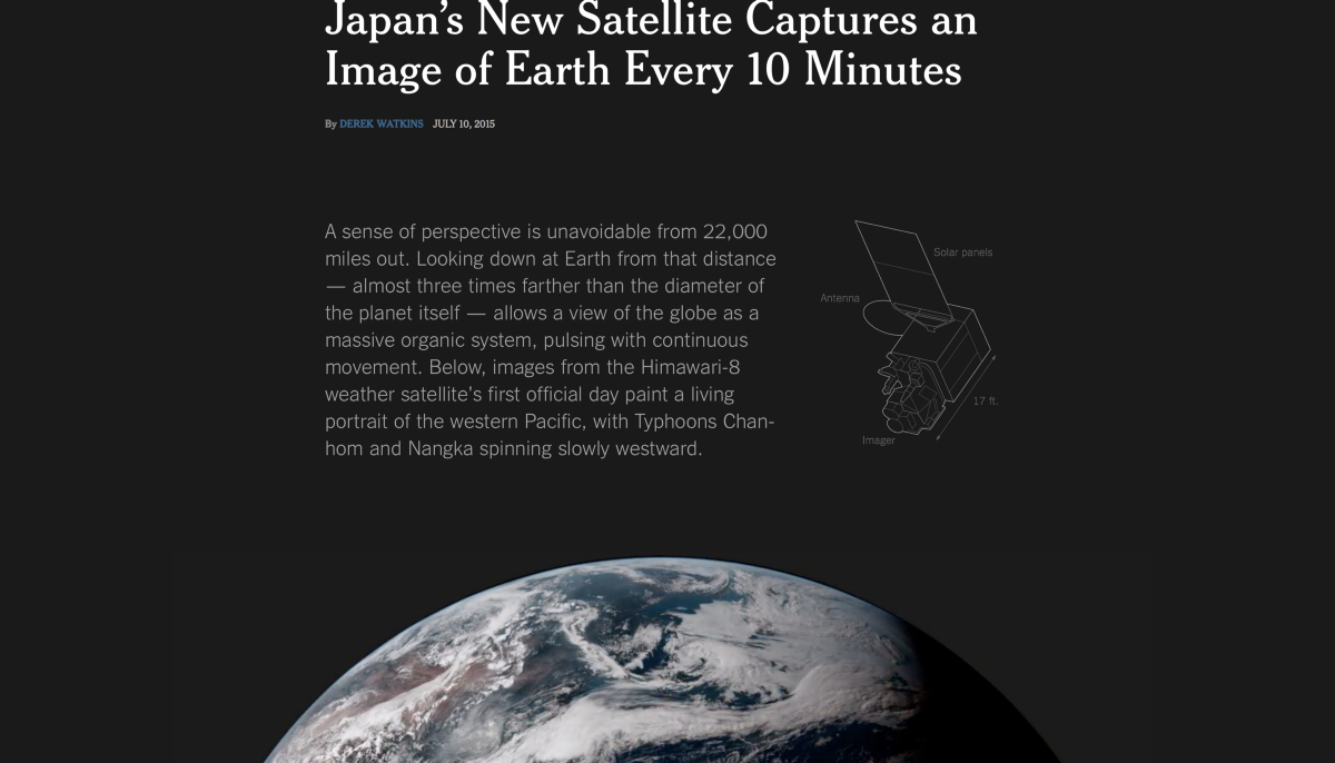 Japans New Satellite Captures An Image Of Earth Every Minutes - Satellite from earth