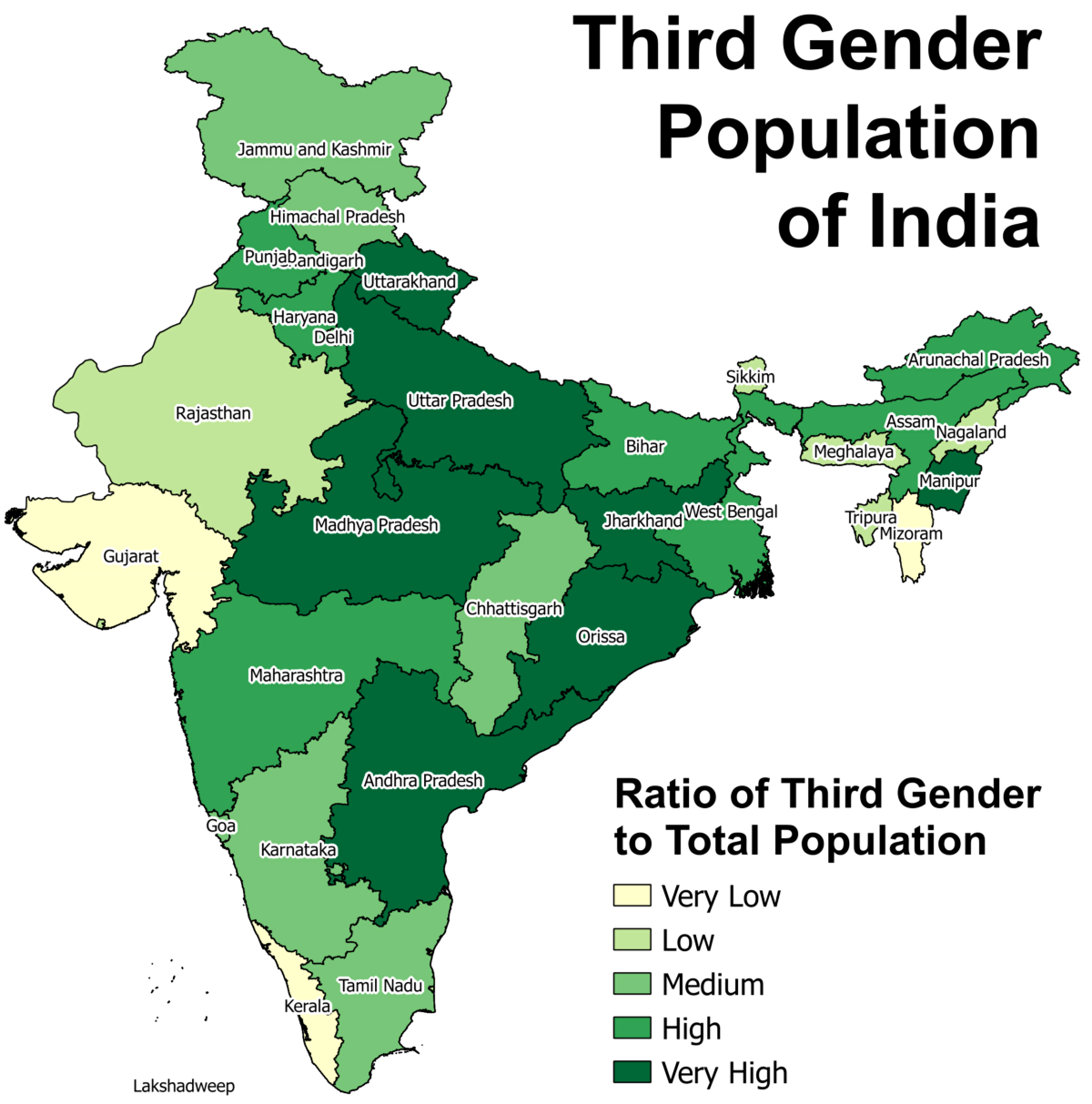 left ratio of third gender population compared to total population right percentage of third gender population between 0 6 years