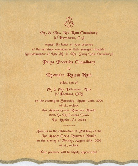 Indian Wedding Invitation Format In English: Loads Of Fun And Curiosity With Indian Wedding Invitation