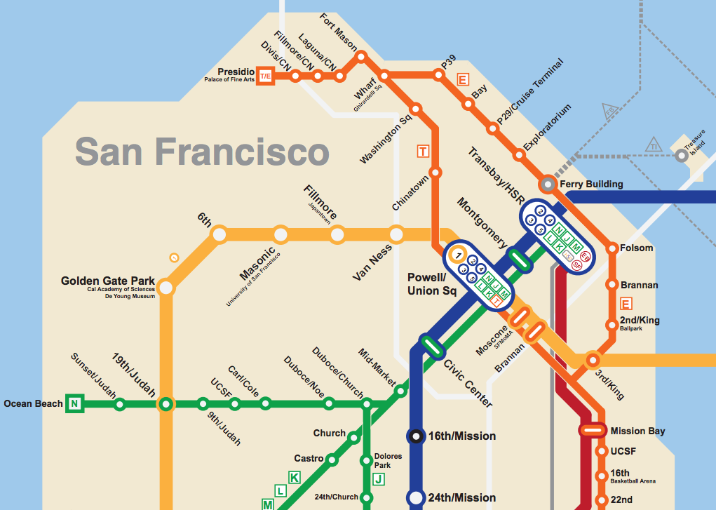 Bart San Francisco Map Bay Area 2050: the BART Metro Map – Future Travel Bart San Francisco Map
