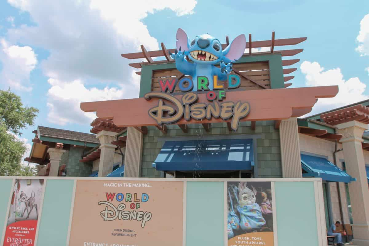 ef41ad225 World of Disney at Downtown Disney at Disneyland Resort opened after its  first phase of refurbishment. The new brand redesign is very industrial and  gives a ...