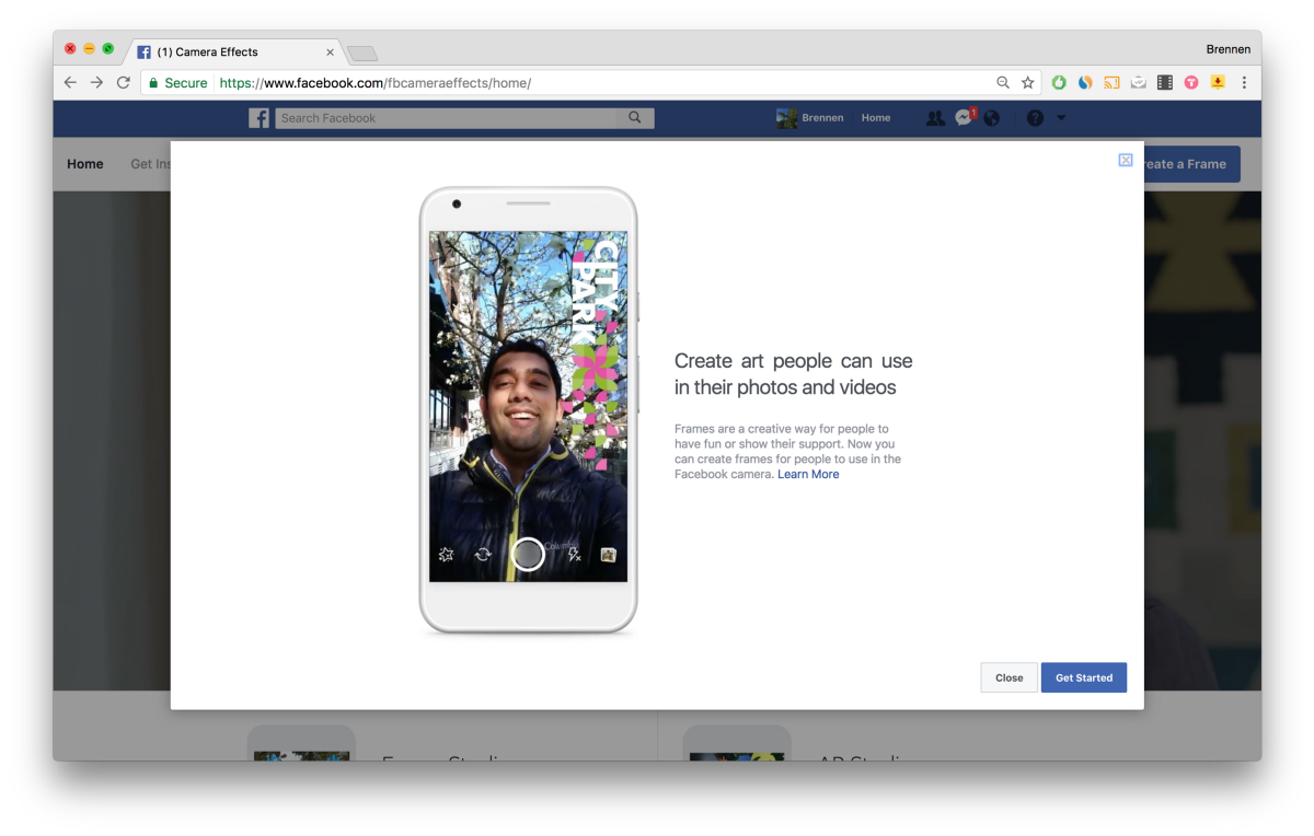 How to make + upload a Facebook Frame using Pepper Filters