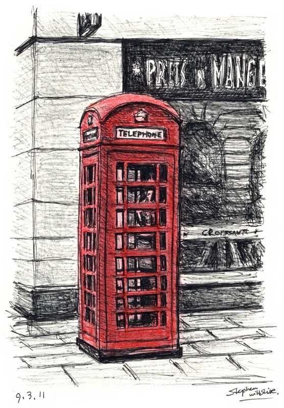 apps how to draw a telephone box like Philz