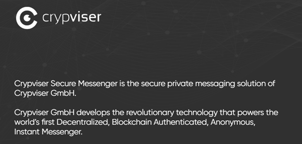 "My 1-week Code and Legal Part Review on ""Crypviser"" Messenger."