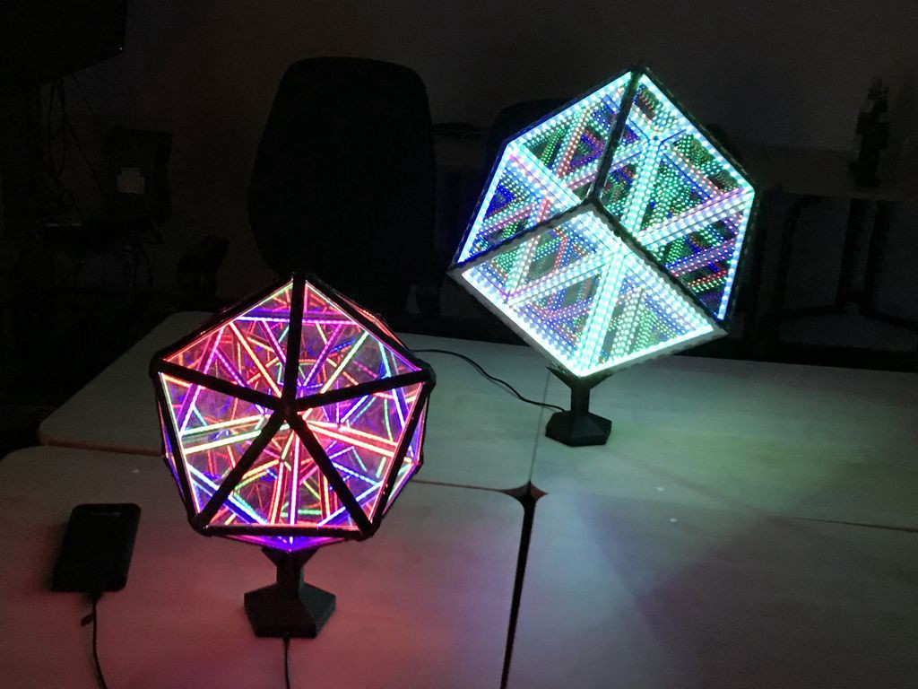 How To Build An Led Lit Infinity Mirror Icosahedron
