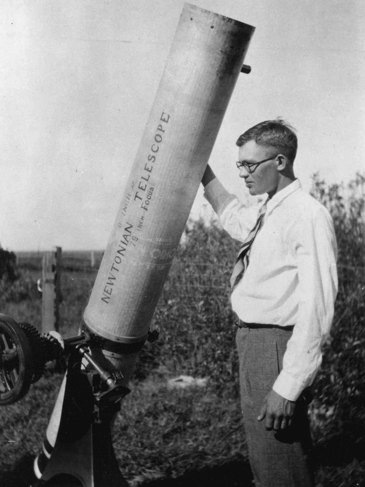 Clyde Tombaugh, the discoverer of Pluto, was searching the skies for objects in the 1950s