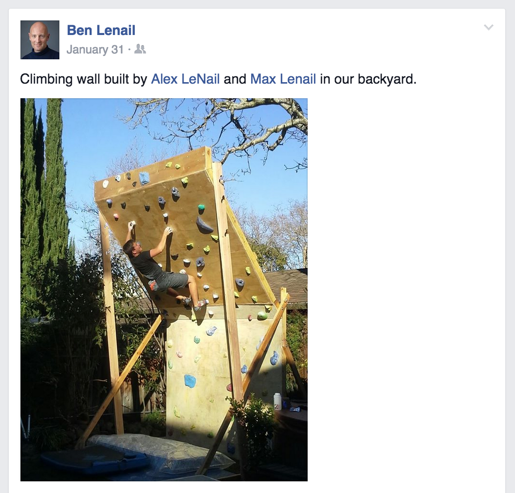 that time we built a climbing wall in our backyard u2026