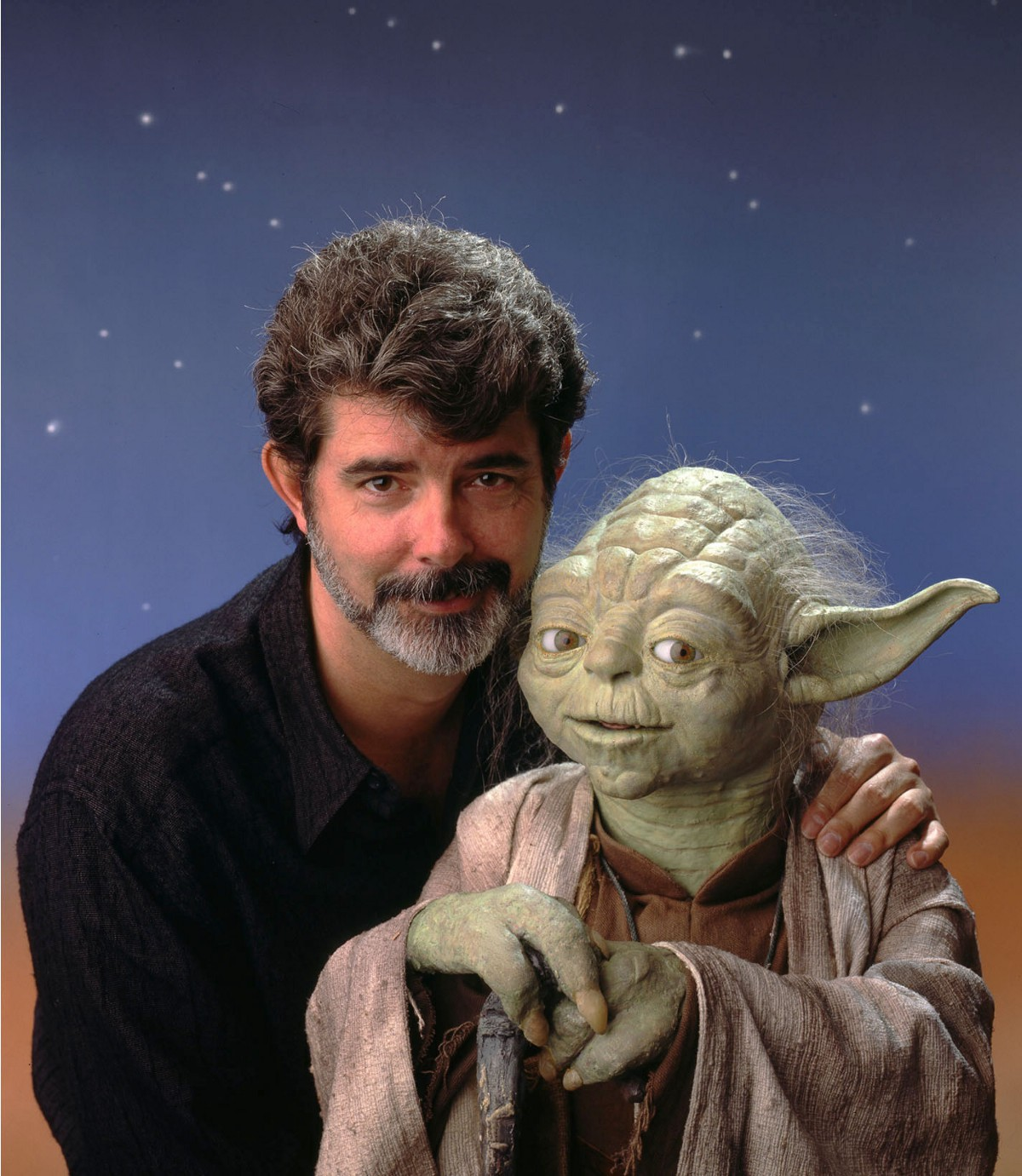 Photographing George Lucas & Yoda