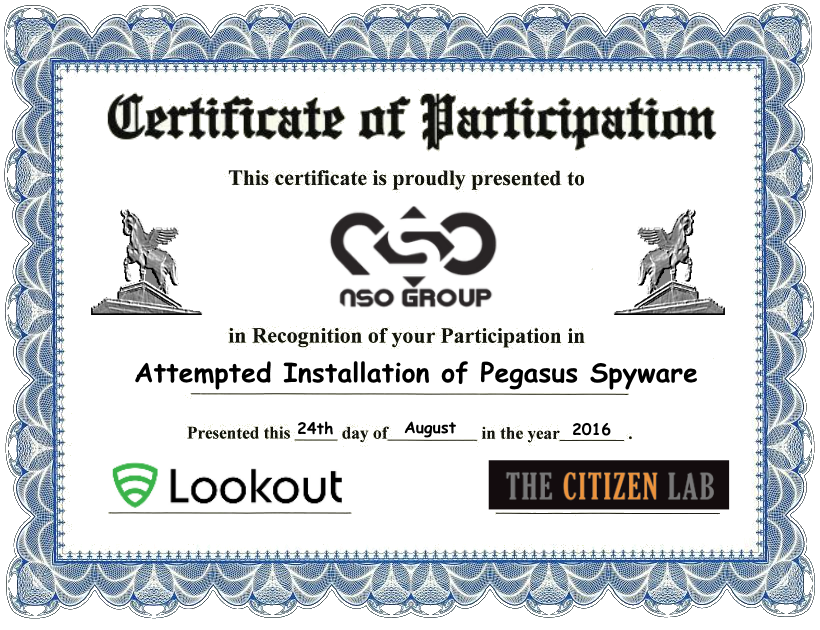 Examining The X509 Certificate Installed By The Nso Pegasus Spyware