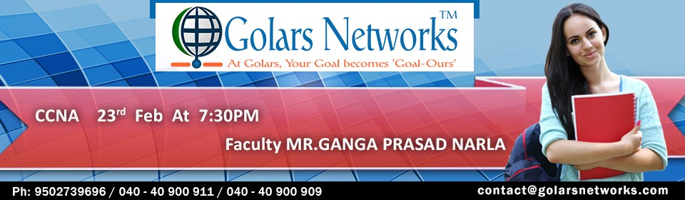 CCNA Certification Training in Hyderabad — Golars Networks