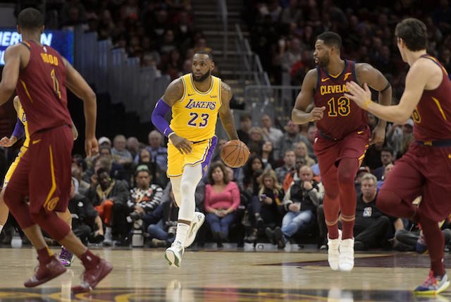 the latest 06bb4 25e72 James finished with 32 points and 14 rebounds in the Lakers  109–105  victory over the Cavaliers. (Photo Credit  David Richard-USA TODAY Sports)