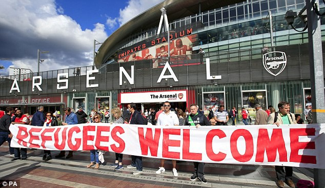Arsenal and Everton launch Child Refugee Crisis Appeal before Premier League games. Source: DailyMail.co.uk