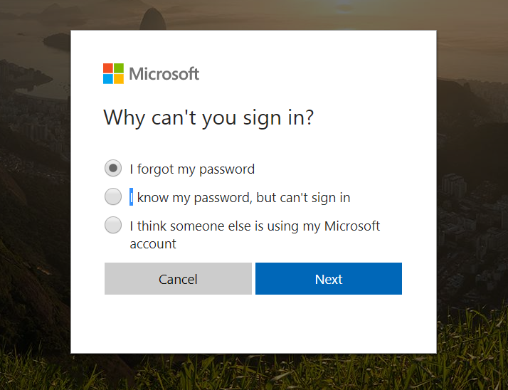how can i reset my hotmail password