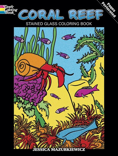 Coral Reef Stained Glass Coloring Book By Jessica Mazurkiewicz