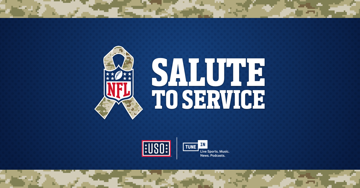 026df468798 ... the National Football League's Salute to Service initiative by teaming  up with the United Service Organizations (USO). Through the month of  November, ...