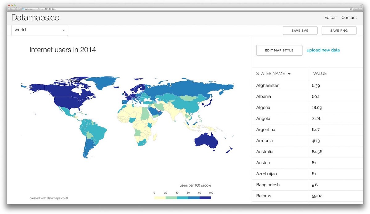 Create Data Maps And Visualizations For Free With Datamaps