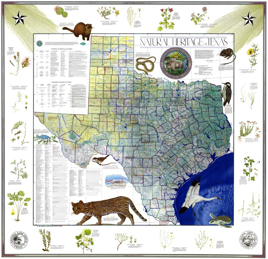 My Favorite Map The Natural Heritage Map of Texas 1986