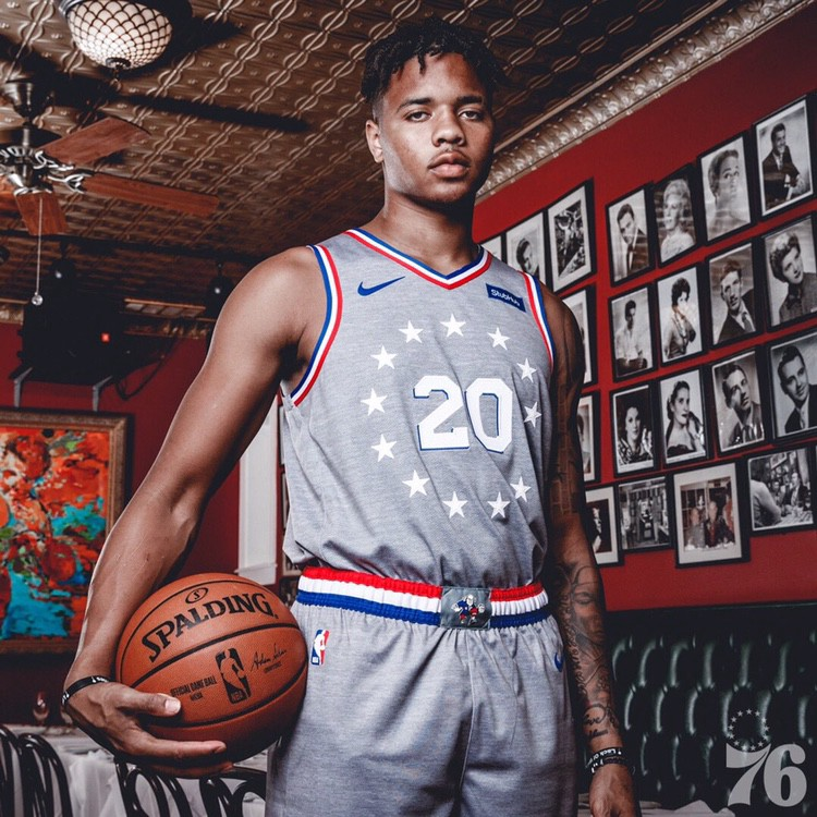 2b81ef27fa0 According to Lowe, the Sixers will first wear these uniforms for a home  game on November 9th against the Charlotte Hornets. This gives fans and  opponents ...