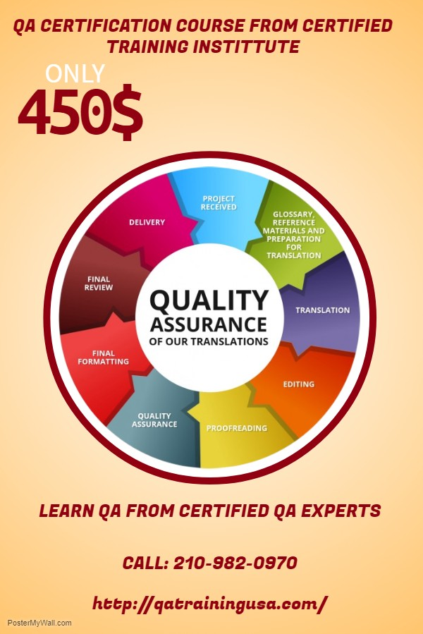 Qa Certification Course From Certified Training Institute