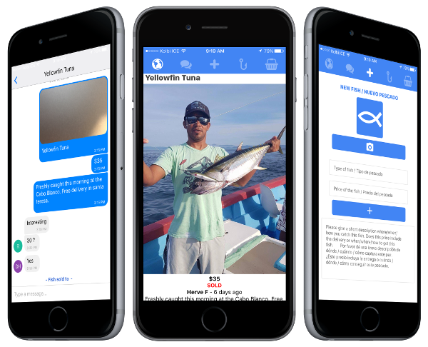 Free and open source social mobile messaging marketplace app using