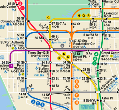 B Train Map How to ride the New York City subway without getting lost B Train Map