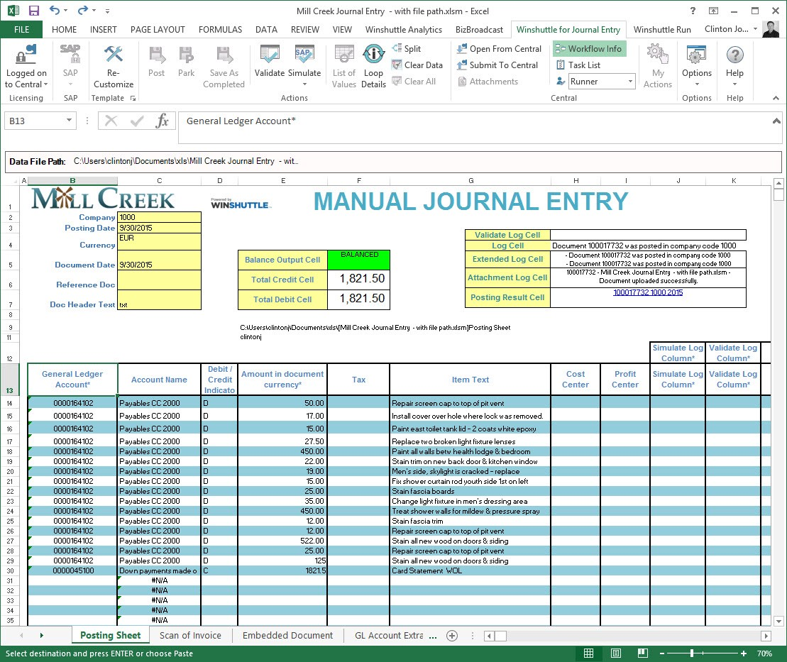 journal entries at the time of What is a journal entry in manual accounting or bookkeeping systems, business transactions are first recorded in a journalhence the term journal entry a manual journal entry that is recorded in a company's general journal will consist of the following: the appropriate date.