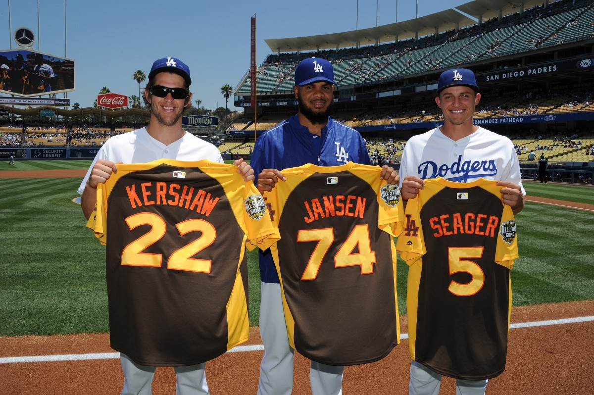 four dodgers selected nl all stars, turner has chance in final votethe dodgersu0027 2016 all stars are also 2017 all stars (jon soohoo los angeles dodgers)