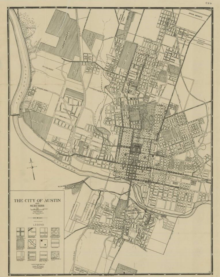 My Favorite Map: The City of Austin and Suburbs – Save Texas History ...
