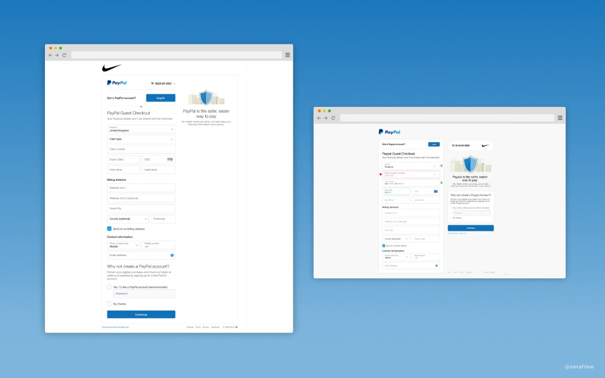 Learning from Paypal: Checkout Page