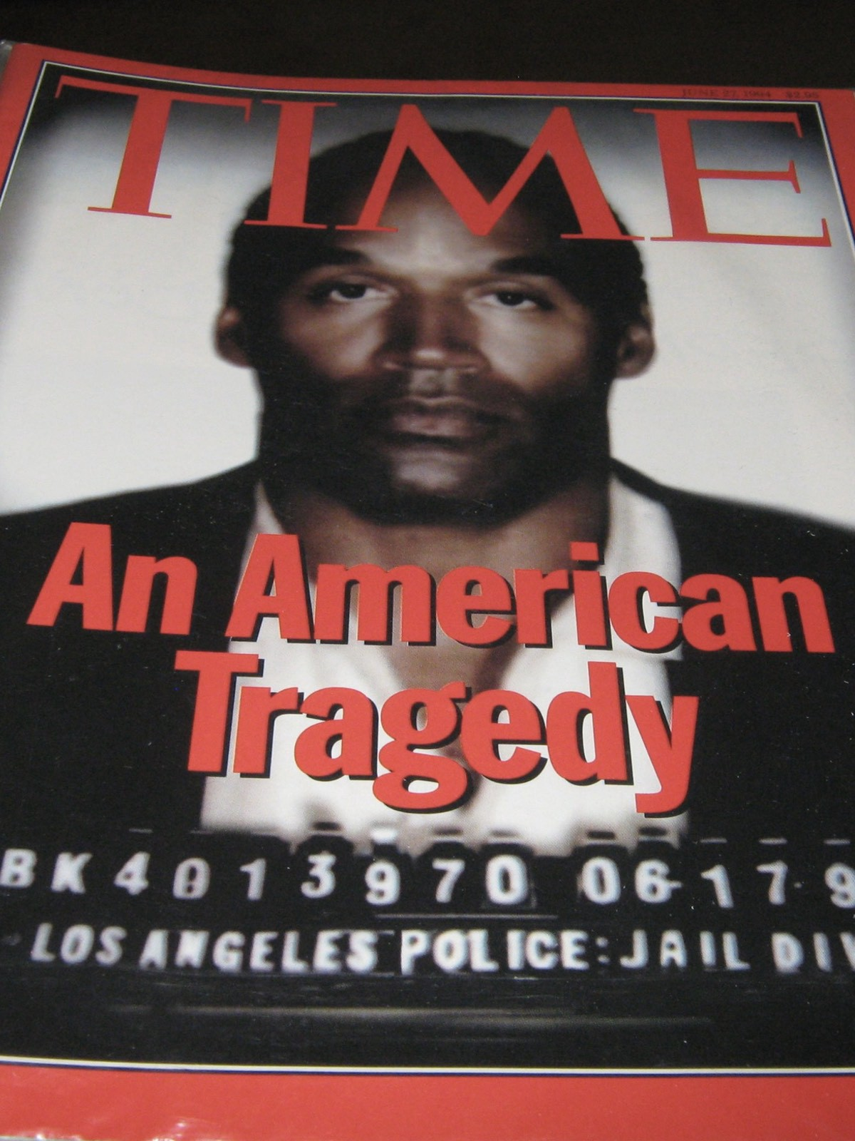 Time Magazine darkened Simpson's image to emphasise his guilt.