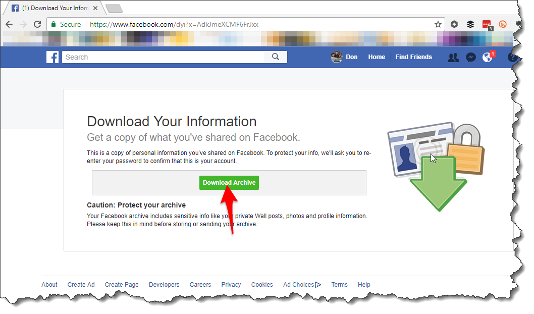 Beginners guide to download a copy of facebook data carbonpig.