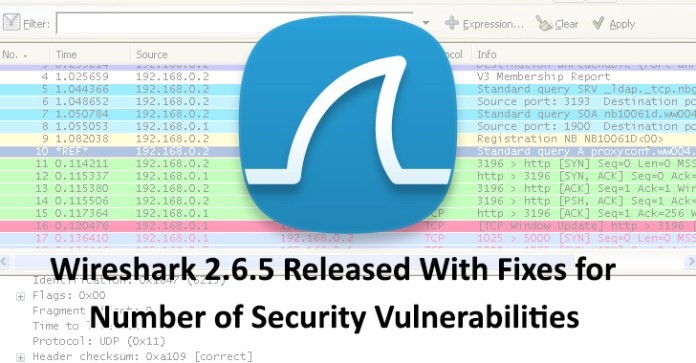 Wireshark 2 6 5 Released With Fixes for Number of