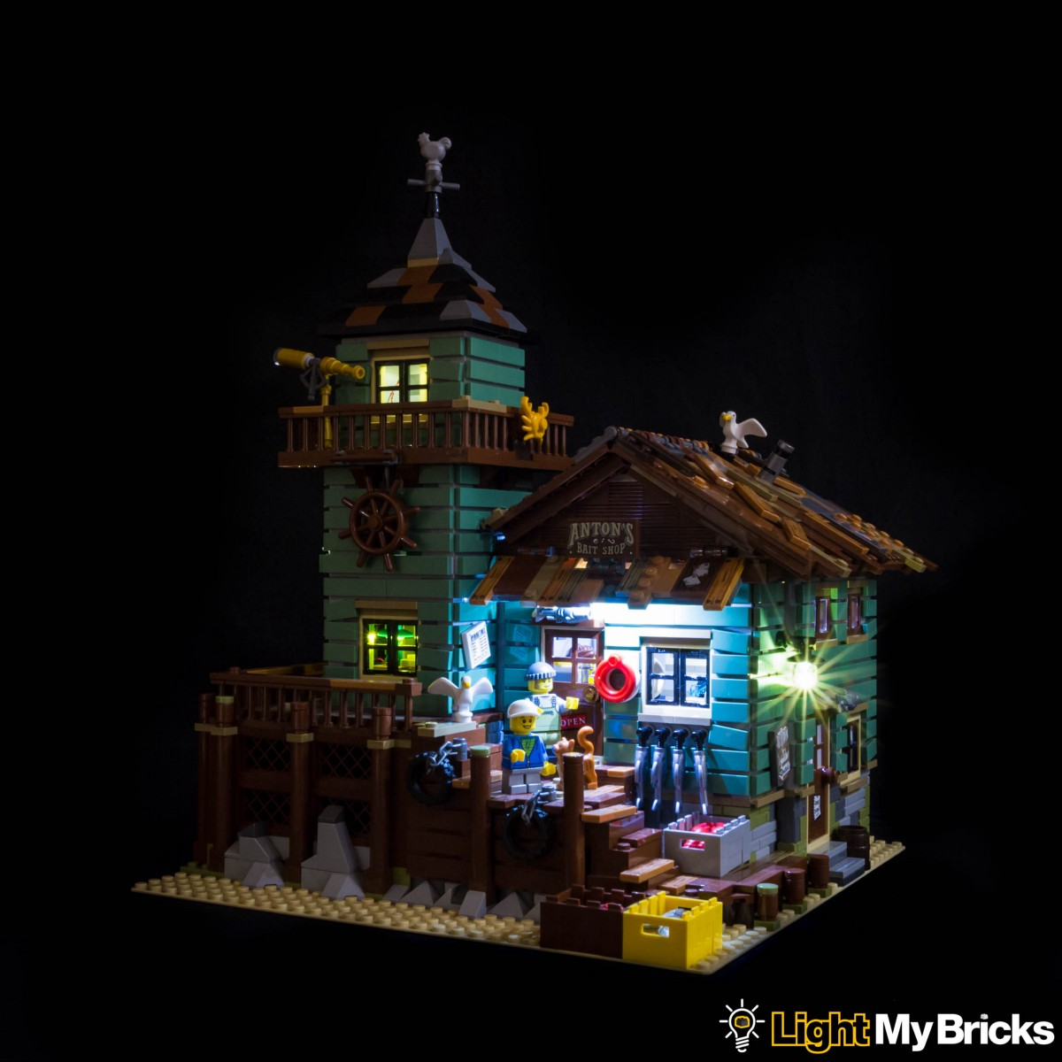 lego lighting. This Finally Completes Installation Of The Old Fishing Store Light Kit. Now Turn \u0027ON\u0027 Your Kit And ENJOY! Lego Lighting